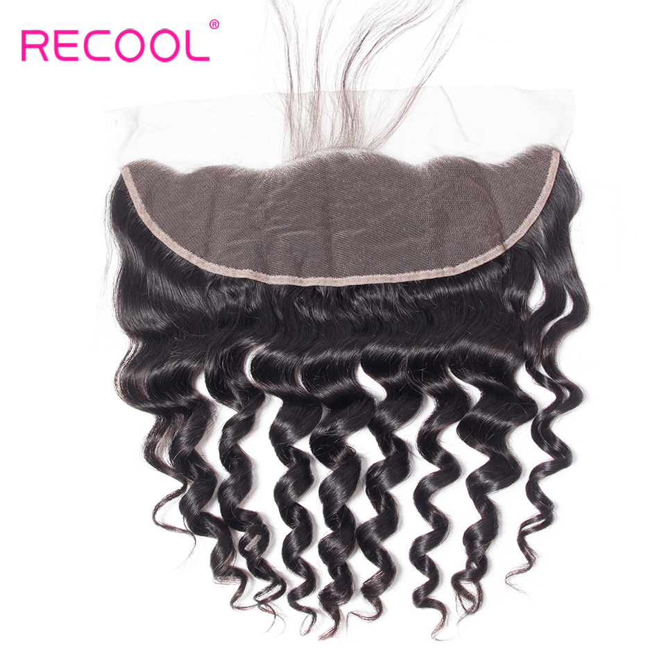 HTB14ZOBCv5TBuNjSspcq6znGFXaI Recool Loose Deep Wave Bundles With Frontal Closure Hd Transparent Lace Remy Brazilian Human Hair Weave 3 Bundles With Frontal