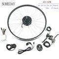 Когда-нибудь 48V350W Электрический велосипед конверсионный набор 16-28 700C задний поворот колеса Ступицы Колеса с спицами и ободом