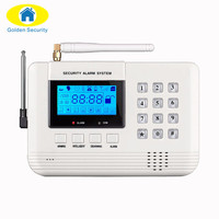 Free Shipping Wireless 433 MHz Dual Network GSM PSTN Alarm System Home Burglar Security Alarm