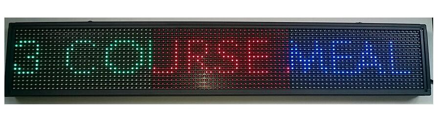 RED Green Blue USB Programmable Scrolling LED Signage Message Board Custom LED Message Board Options LED Display Signs Signage