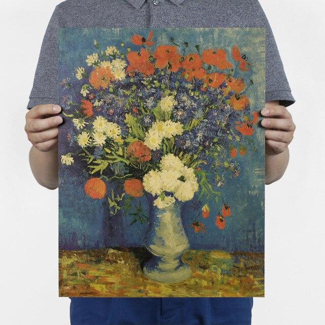 Peinture à l'huile Van Gogh/bleuet et coquelicot/