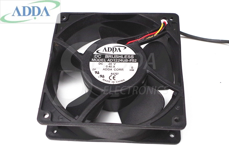 ADDA AD1224UB-F52 12038 12cm 120mm DC 24V 0.2A  DC Brushless Cooling Fans blower industrial cooler delta 12038 120mm 12cm ffb1212vhe dc 12v 1 5a 24w 4wire violence server industrial case cooling fans