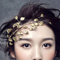Gold Leaf Wedding Hair Ornaments Accessories Bridal Hair Vine Pieces Jewelry Handmade Bride Headpiece