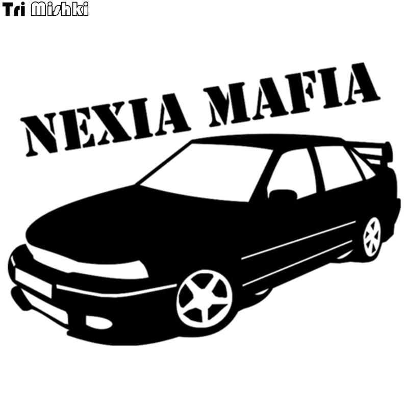 Tri Mishki  14.4*20cm 1-4 Pieces Car Sticker For Daewoo Nexia Mafia Auto Vinyl Decals Accessories Car Sticker  HZX075