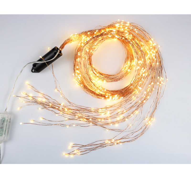 8 Mode Waterfall Fairy Lights 15/20/30 Strands Bunch String Lights Plug In Firefly Garland For Wedding Plants Tree Party Decor