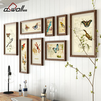Simple European Acrylic Photo Frame Sofa Background Wall Decoration Plastic Picture Frame Photo Combination Wall Picture Frames
