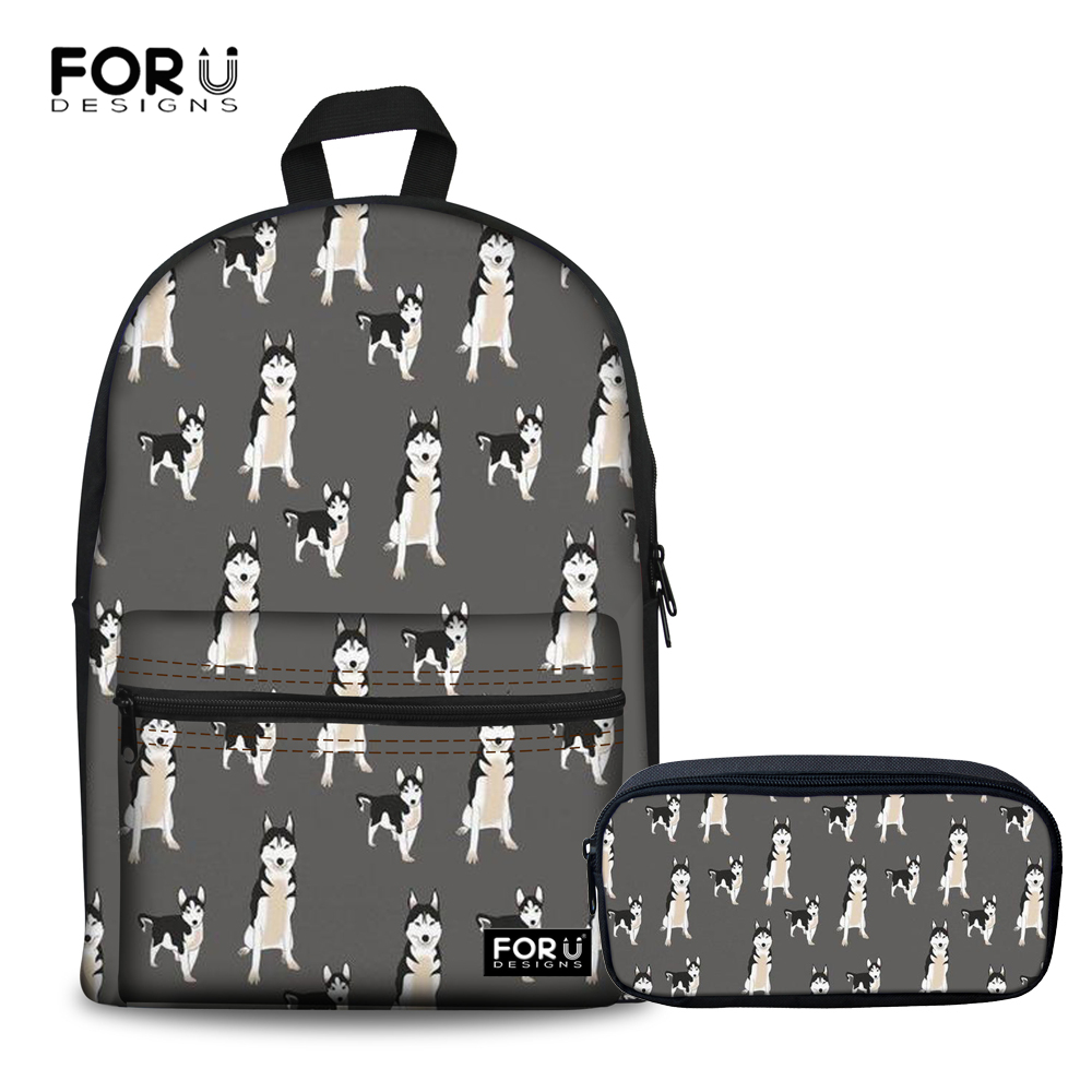 c11948120 FORUDESIGNS Preppy Style Women Backpack Husky Printing Backpack Schoolbags  for Teenage Girls Female Backpack Rucksack Mochilas -in Backpacks from  Luggage ...