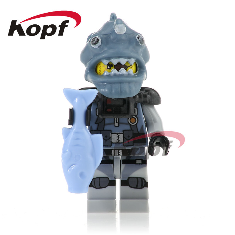 20Pcs Building Blocks Super Heroes White Shark Jungle Garmadon Enemy Hammer <font><b>70612</b></font> Figures Collection Toys For Children PG1067 image