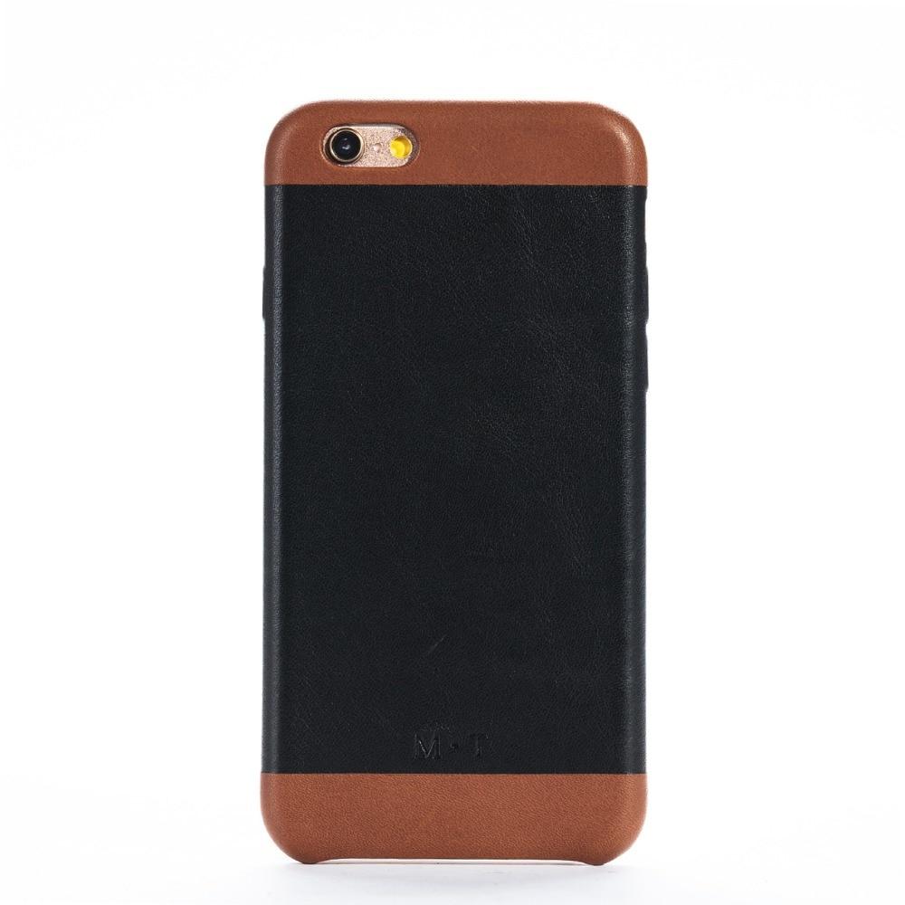 Coque de téléphone plus fine et plus légère en cuir véritable pour iphone 6/6s