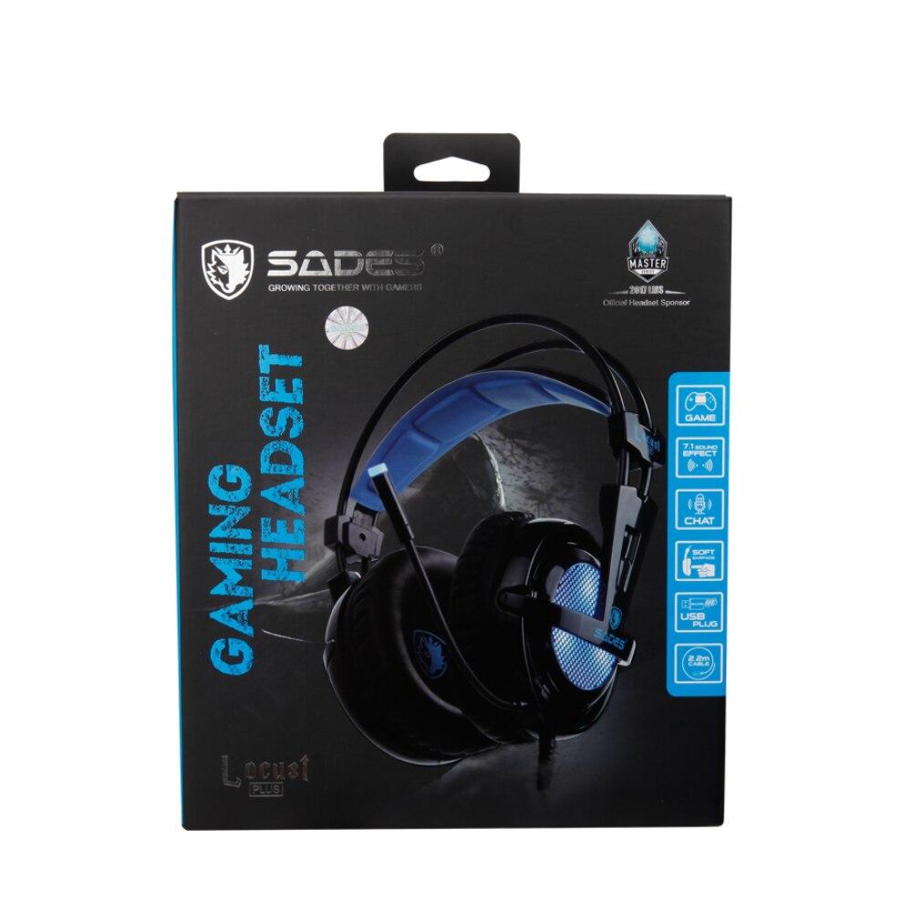 SADES Locust Plus 7.1 Surround Sound Headphones 5