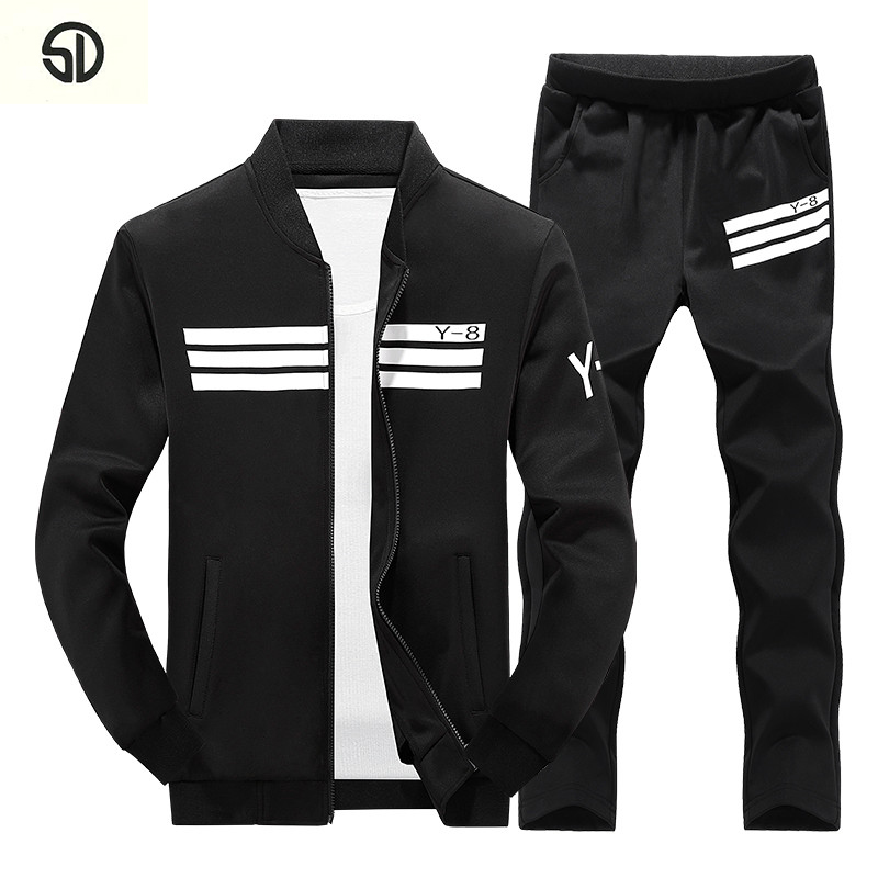 Mens SportSuits Tracksuit Men Jogger Suits Ensemble Jogger Homme Fashion Man Sportwear Casual Hoodie Chandals Hombres 2018 New