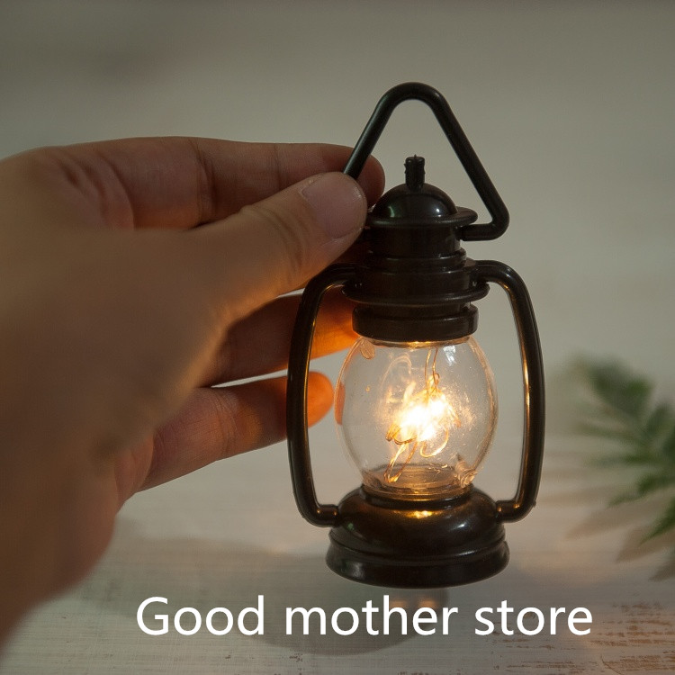 Newborn Photography Creative European And American Style Retro Small Black Horse Lamp Two-color Lighting Photography Props