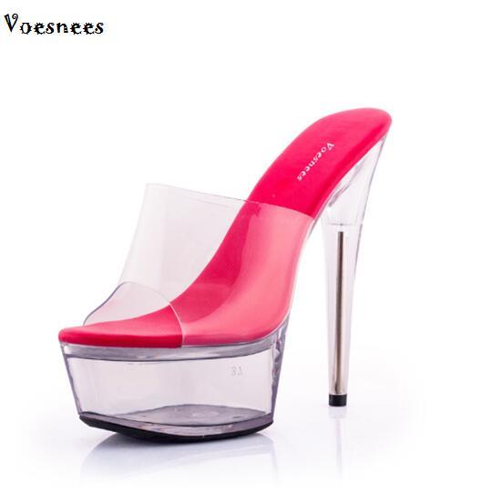 0309aa6db Passe o mouse em cima para dar zoom. Sandálias Sapatos de salto Alto Mulher  Hentian 13-15 centímetros Chinelos Sapatos ...