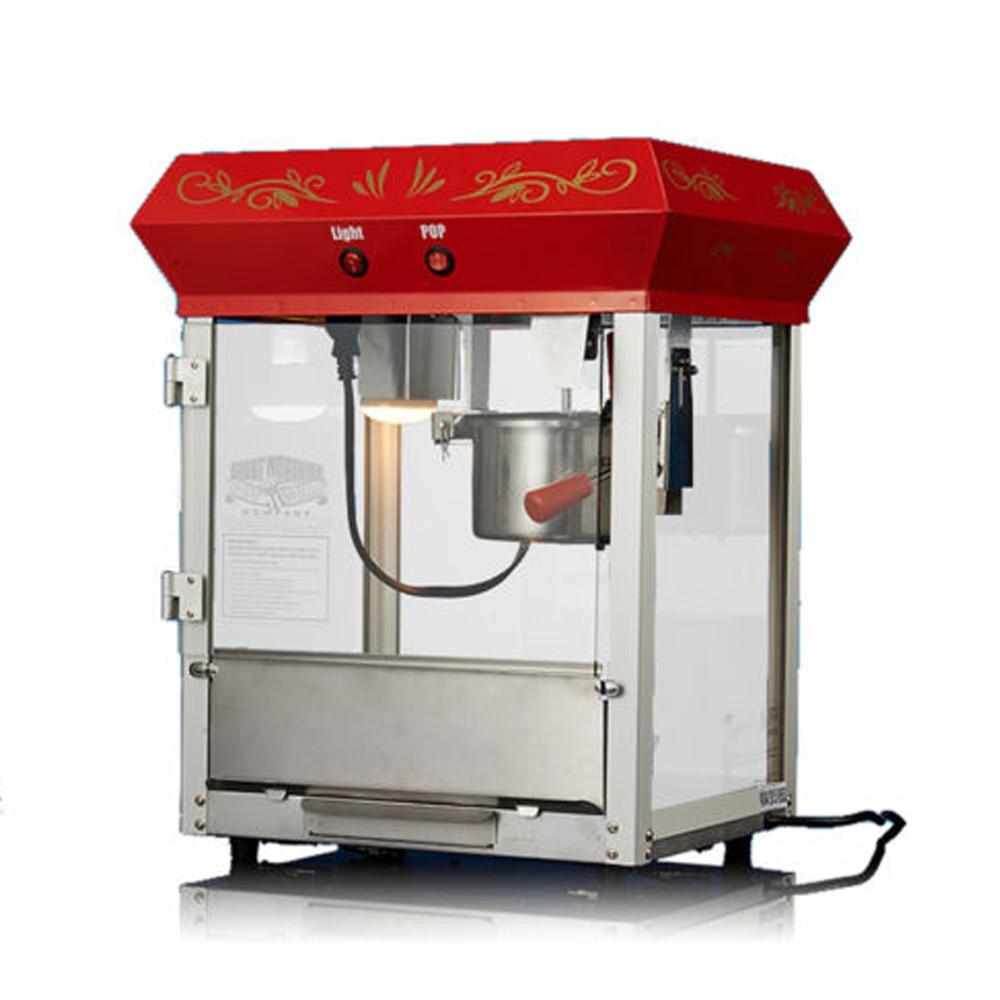 Eleoption 110V / 220V Electric Commercial Automatic popcorn machine + Insulation function 680W 6 OZEleoption 110V / 220V Electric Commercial Automatic popcorn machine + Insulation function 680W 6 OZ