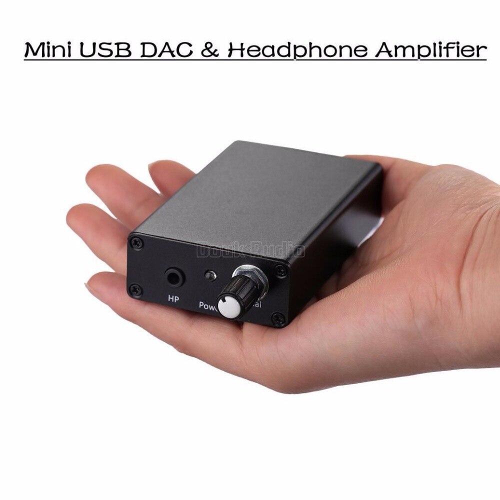 Music Hall Latest Mini TDA1305T USB DAC Audio Decoder Amplifier PC Sound Card Amplifier