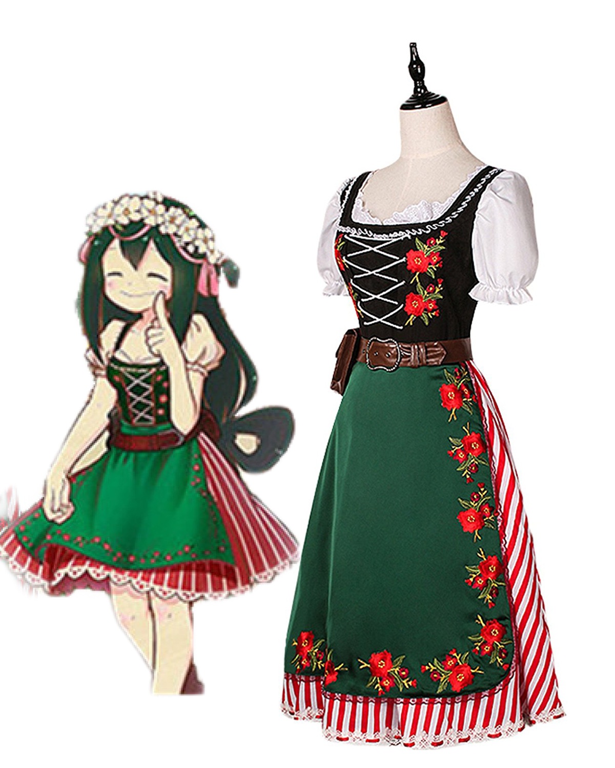 Tsuyu Asui Dress My Hero Academia Tsuyu Asui Cosplay Costume Lolita Dress Boku No Hero Academia Cosplay Custom Made