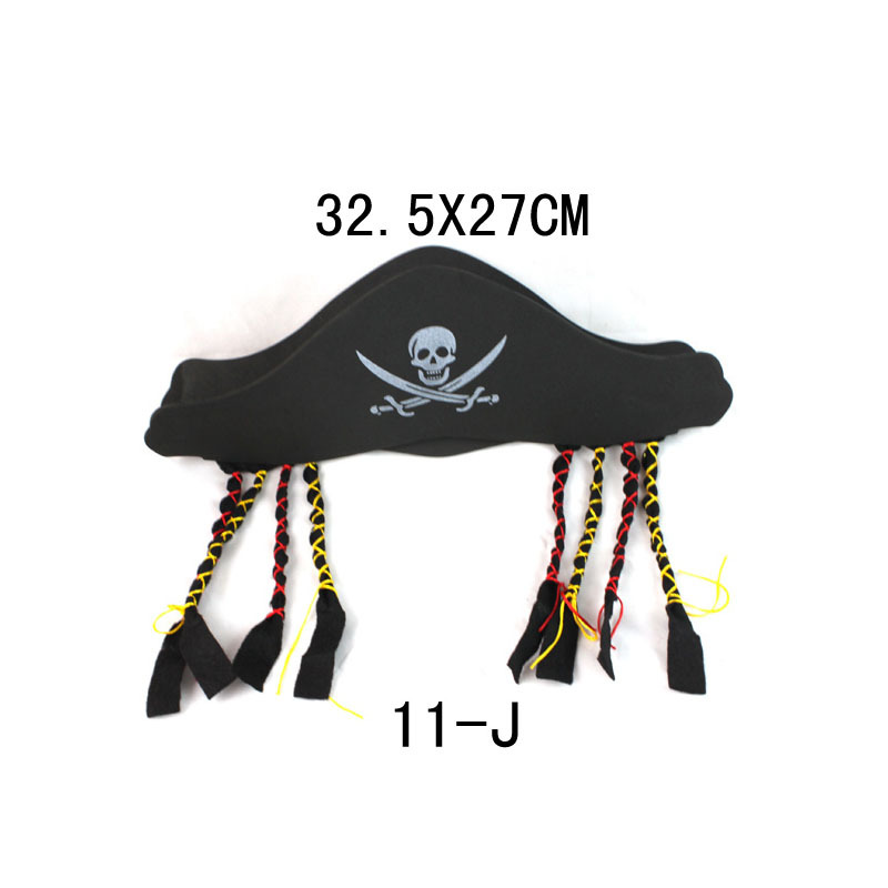 12pcs/lot Halloween Toy Pirate Party Props Eva Hat Game Accessories 32.5*27cm Wholesale To Clear Out Annoyance And Quench Thirst