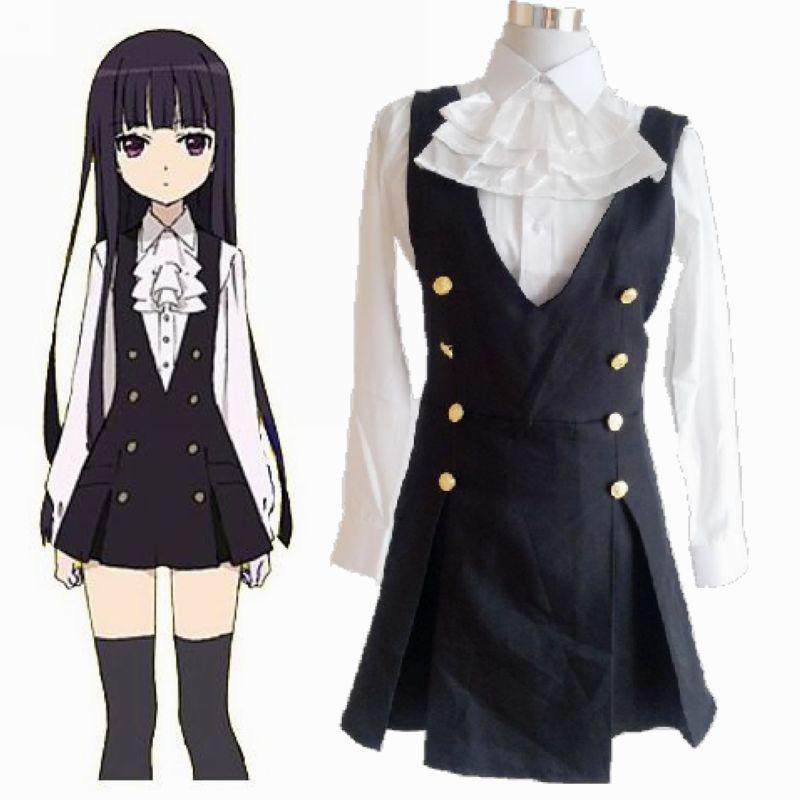 Lady Inu x Boku SS Shirakiin Ririchiyo daily service uniforms COS ladies clothes cosplay Free shipping + gift Socks