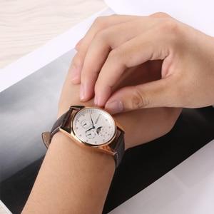 Image 5 - Japon lune Phase Quartz montres femmes montre décontractée à la mode de luxe en or Rose en cuir étanche dames Quartz poignet 2160L