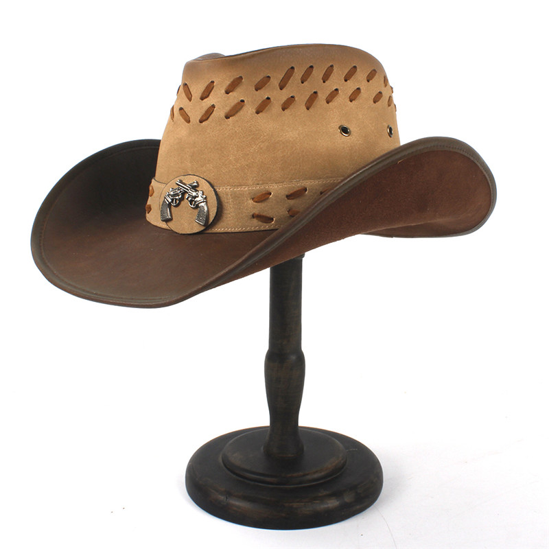 Western Leather Cowboy Hats for Women & Men 25