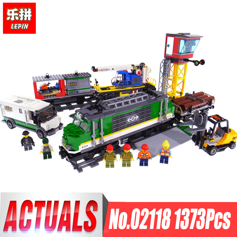 2018 Lepin 02118 City Series RC Cargo Train Set compatible Legoinglys 60198 City Train Building Blocks Bricks Toys For Children lepin 02015 456pcs city series train station car styling building blocks bricks toys for children gifts compatible 60050