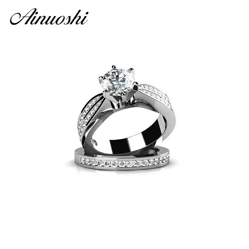 AINUOSHI 925 Sterling Silver Δαχτυλίδια αρραβώνων - Κοσμήματα μόδας - Φωτογραφία 1