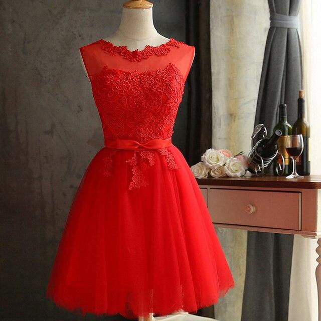 Us 21 82 20 Off Zuolunouba 2018 Lace Diamond Summer Dress Women Sleeveless Lovely Bowknot Red Short Dress Slim Christmas Party Dresses Vestidos In