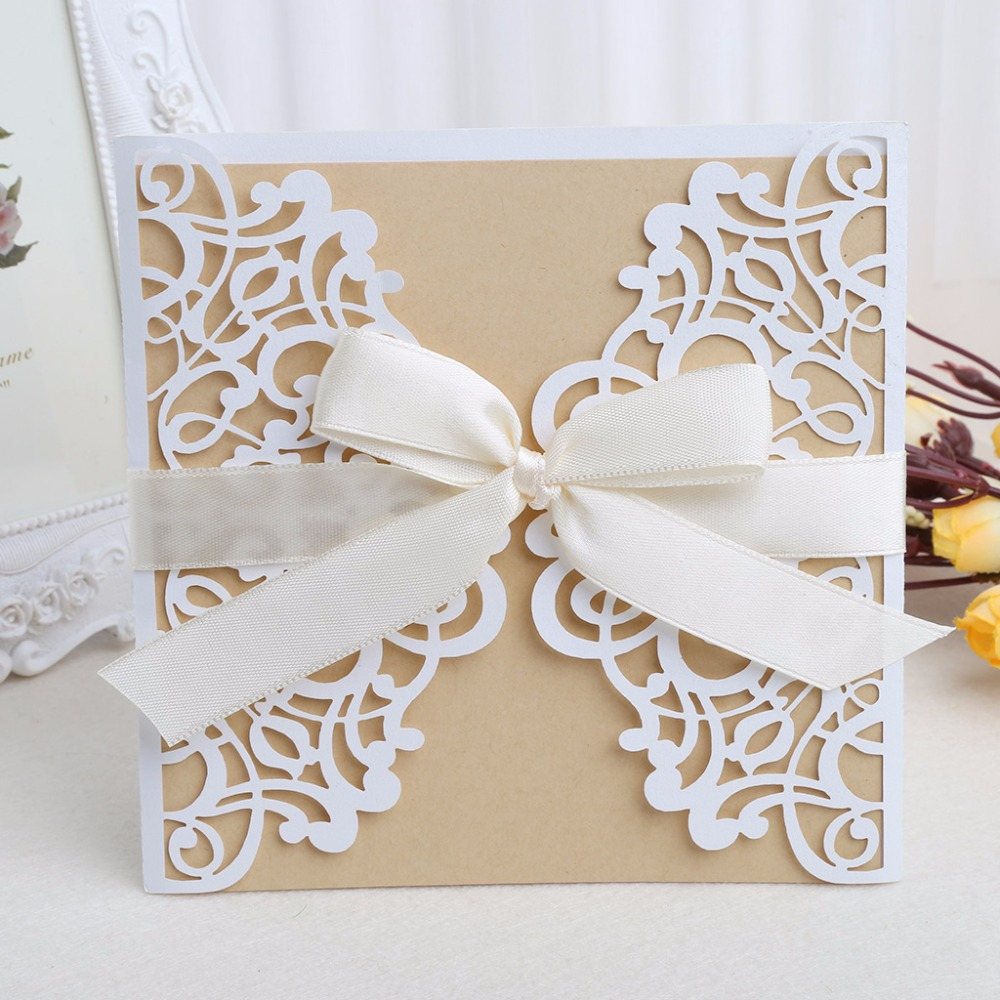 Hot Sale 10Pcs Wedding Invitation Cards Kit with Envelopes Seals ...
