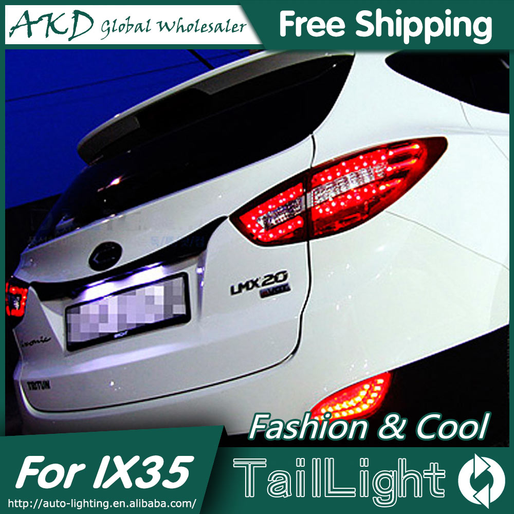 One-Stop Shopping Styling for Hyundai IX35 LED Tail Lights 2010-2013 Benz Style Tail Light Rear Lamp DRL+Brake+Park+Signal [ free shipping ] brand new led rear light led back light benz style tail lamp for hyundai elantra 2012
