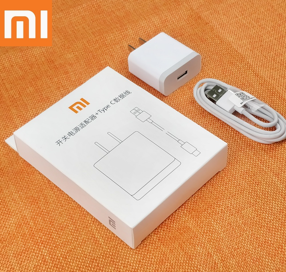 Original XiaoMi mi8 QC3.0 Charger Quick Fast 12V/1.5A Charge power Adapter & Usb Type-C Cable Foe Mix 2s 2 Mi 6 A2 A1 Mi note 3