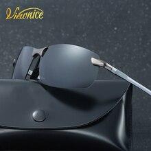2017 Pilot luneta oculos de sol masculino Sunglasses Men black rectangle For Driving rimless sun glasses Glod pesca driving