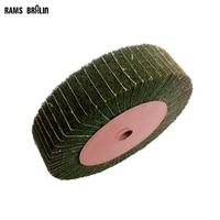 200*50*20mm  Green Non-woven Flap Combi Grinding Wheel Mop Wheel with Interleaf Hardware Polishing