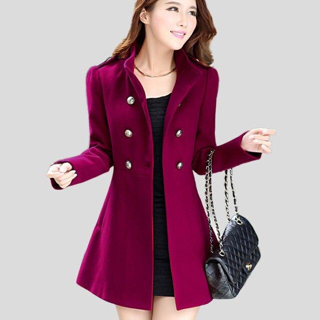 Aliexpress.com : Buy Winter Women Wool Coat 2016 Double Breasted ...