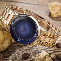 Women's Watches Rose Gold Stainless Steel Watch Diamond GUOU Fashion Ladies Watch Luxury Reloj Mujer Clock Women relogios saat