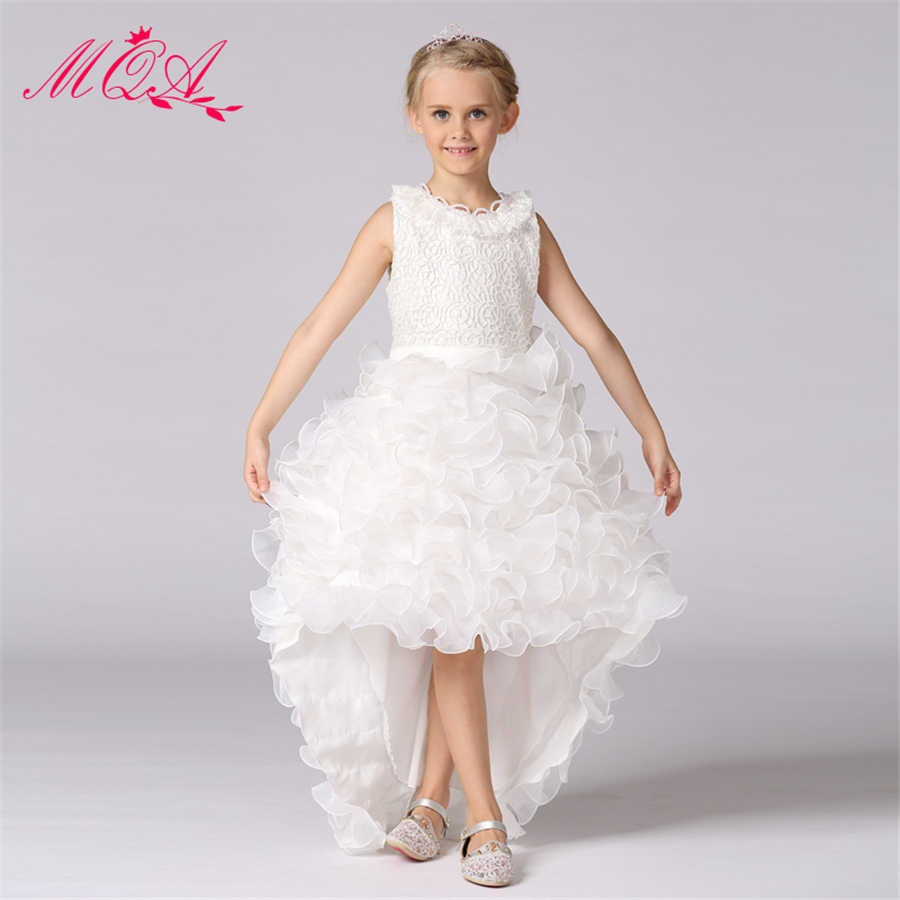 high quality white children wedding dress for girls  princess dresses for prom baby girl tutu dress beautiful girl clothes NQ139