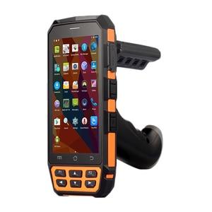 Image 2 - SM DT510 escáner de código de barras portátil Android inalámbrico, resistente, Bluetooth 4G, Wifi, POS, Terminal LF RFID UHF, lector PDA con agarre de pistola