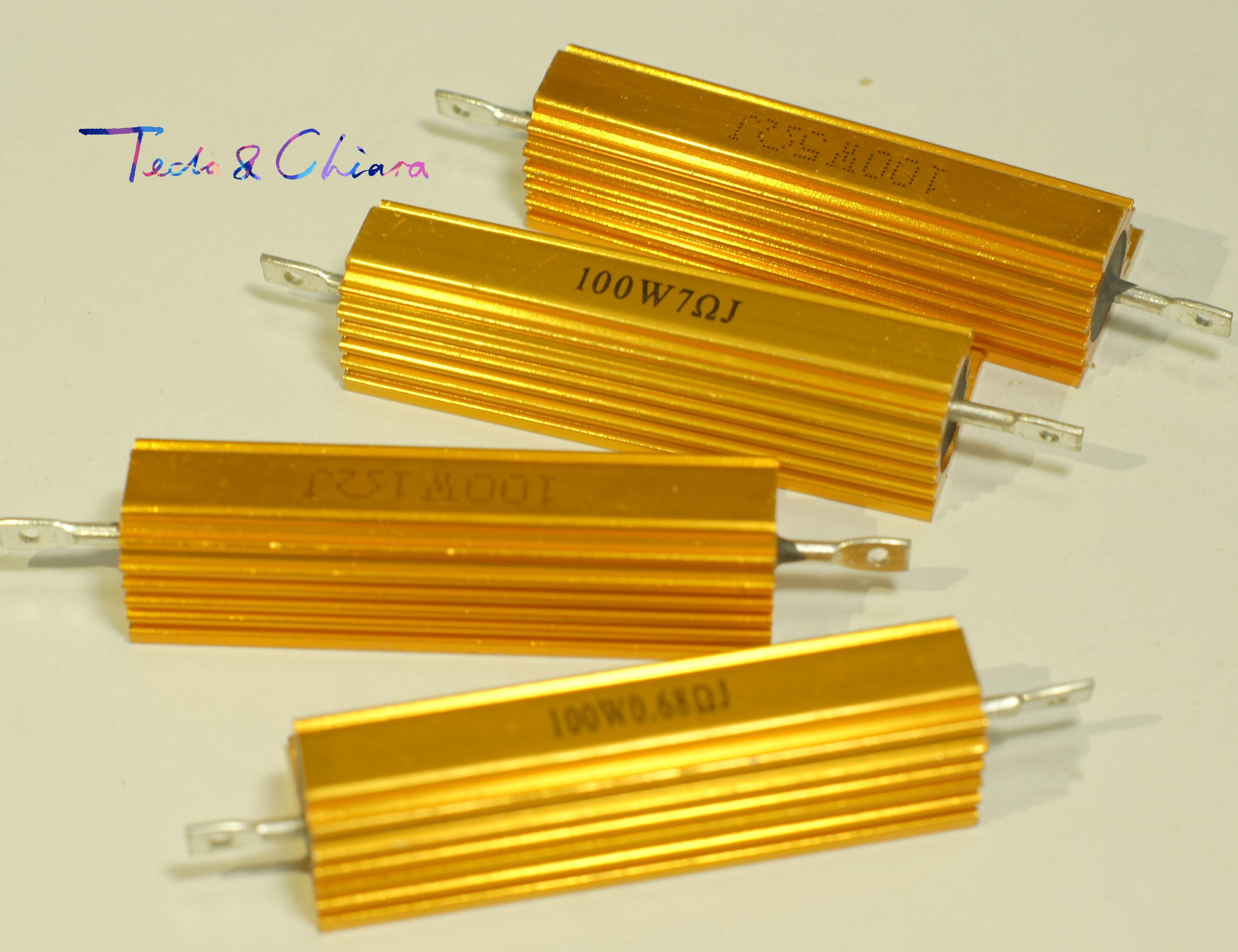 US Stock 2x 20K ohm 20K 100W Watt Aluminum Housed Metal Case Wirewound Resistors