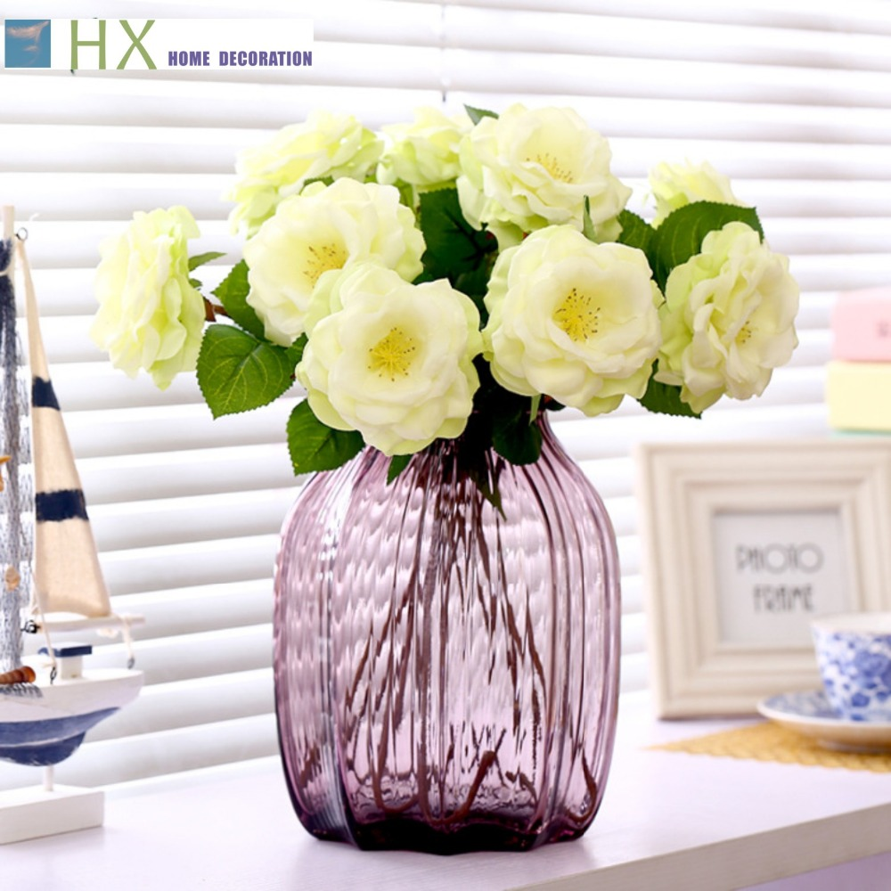 2015 New(10 pcs/lot)Artificial flowers, spring rose,Lovely and Sweet gift,home decoration,wedding decoration