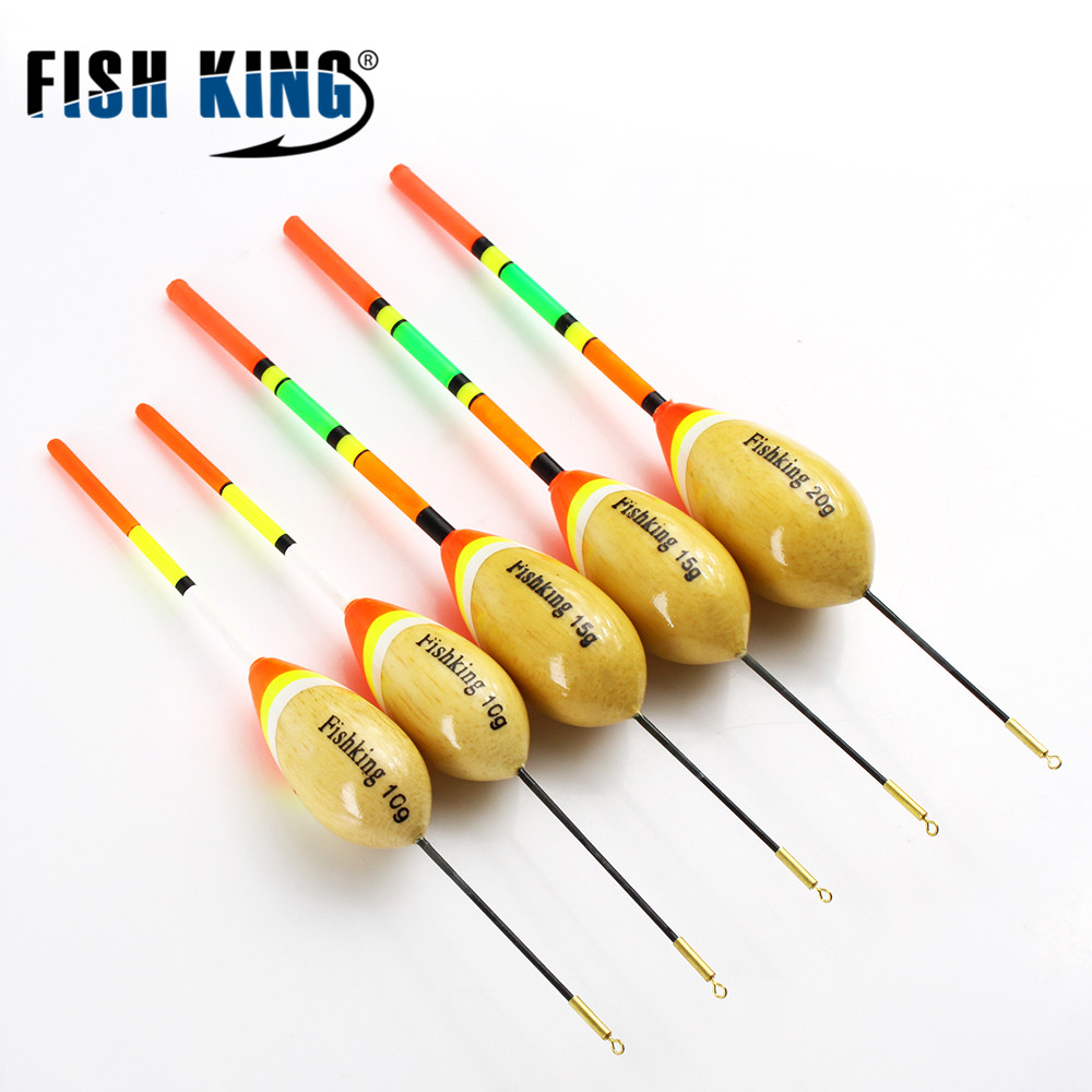 FISH KING 5шт / Lot 1g-20gFloat даўжыня 14см-21см Пече для Карпавай рыбалкі Інструменты паплаўкоў Буі Flotteur