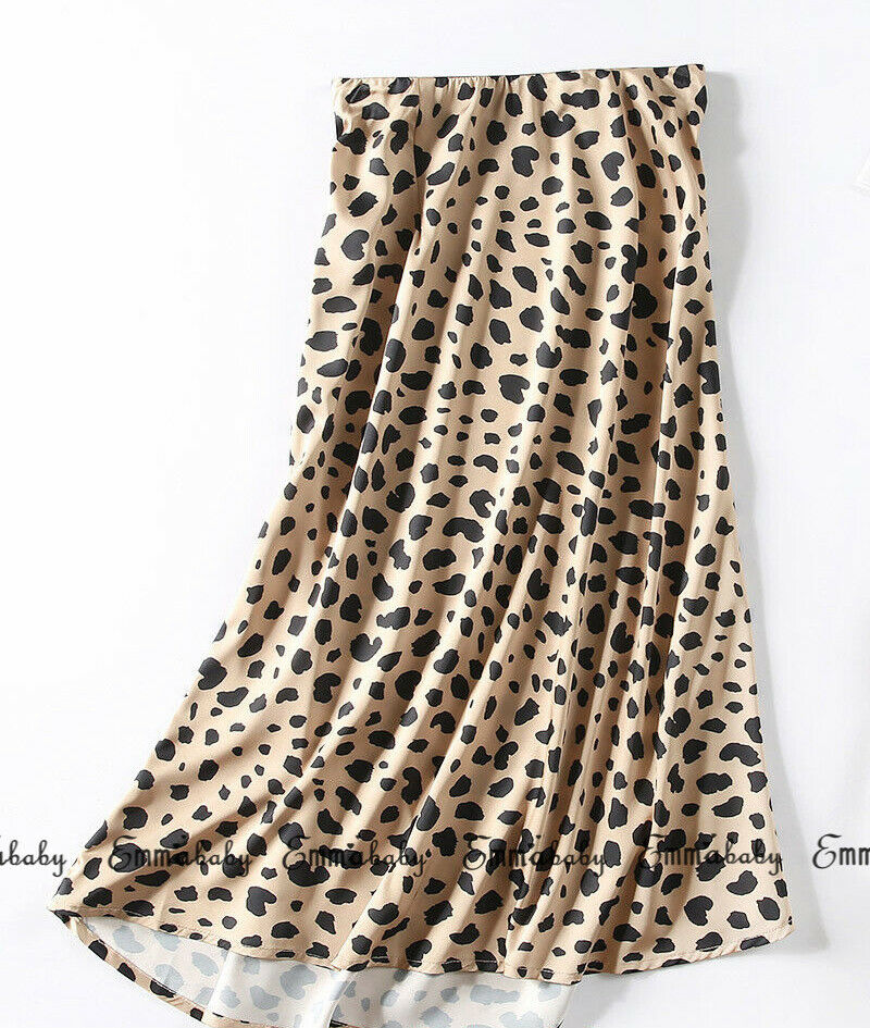 Sexy Womens Bikini Cover Up Leopard Print Wrap Tunic Midi Skirt Ladies Bandage Party Beach Dress Elastice High Waist Swimsuit
