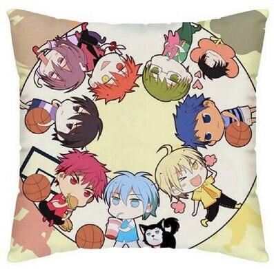 Japanese Anime Kuroko Basket Manga Stylish Home Decorative Throw Pillow Covers Zippered Square Twin Sides Printing