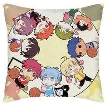 Anime japonés Kuroko cesta Manga con estilo decorativo casero fundas de almohada cuadrada con cremallera lados dobles impresión caso cojín