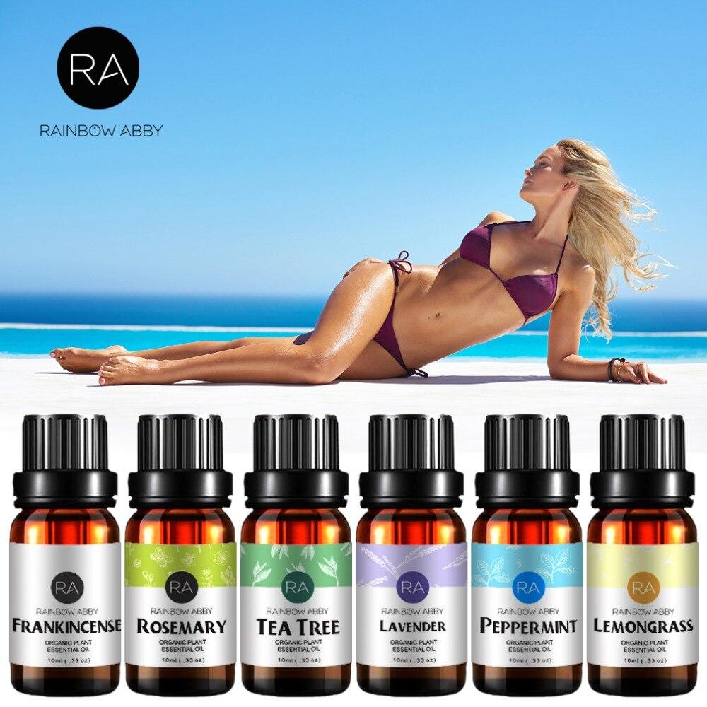Tea Tree Clove Jasmine Lavender Essential Oil Pack For Aromatherapy Massage Spa Bath 10ml Hemp Oil  Massage Oil Rose Eucalyptus