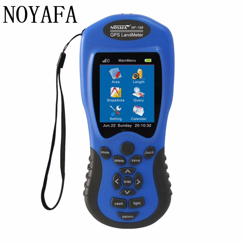 NF-198 GPS Test Devices GPS Land Meter LCD Display Measuring Value Figure Farm Land Surveying And Mapping Area Measurement цена
