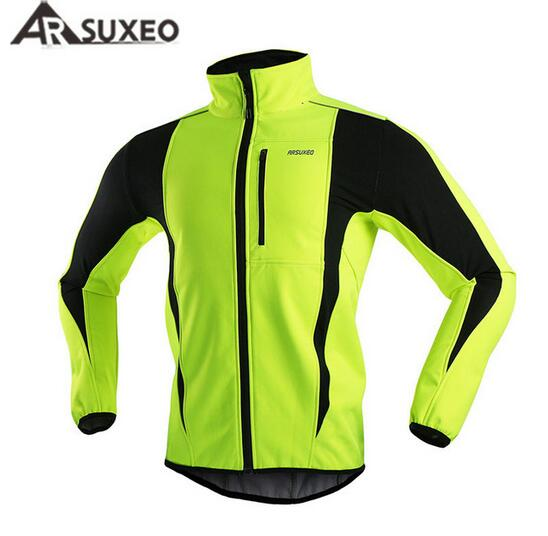 ARSUXEO Winter Men s Cycling Jacket Thermal Warm Fleece Windproof Outdoor  Sports Coat MTB Bike Bicycle Cycle Clothing 7e2c2dc55
