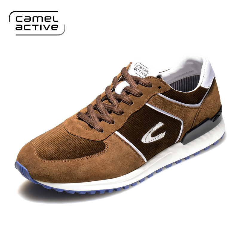 Camel Active Men Shoes 2018 Spring Sneakers Breathable Casual Shoes Fashion Comfortable Lace up Men Sneakers Mesh Flats Shoes купить
