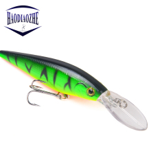 Купить с кэшбэком Fishing Lure Minnow 11cm 10.5g Artificial Hard Bait Topwater Pike Bait Jerkbait Deep Swim Japan Wobbler Crankbait Fishing Tackle