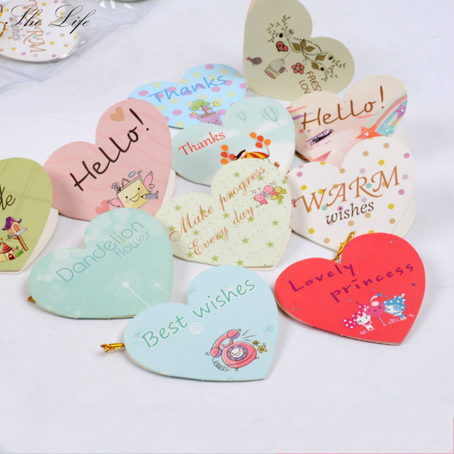 160 pcs heart shaped small greeting cards blessing best wishes happy 160 pcs heart shaped small greeting cards blessing best wishes happy birthday holiday wedding decor m4hsunfo