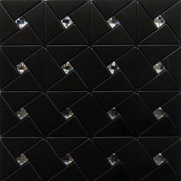 Aliexpress.com : Buy Modern black kitchen backsplash tile bathroom wall  tiles decor mesh metal black stickers adhesive tile the