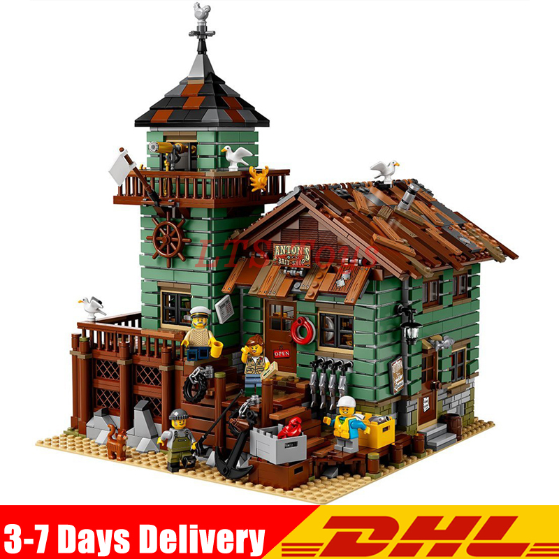 EN STOCK Nouveau LEPIN 16050 GPM Série Le Vieux Finition Magasin Construction Pour L'éducation Des Enfants legoing 21310 Blocs Briques Jouets Modèle